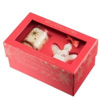 Belleek Angel Ornament and Candle Christmas Gift Set